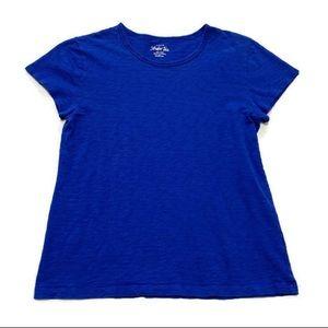 J. Crew Women's Blue Heather Studio Tee Shirt